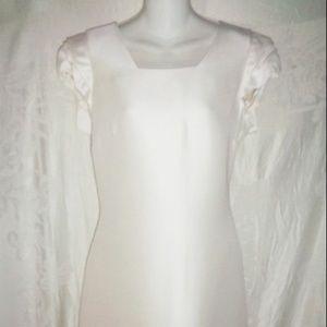 New VALENTINO White Silk Dress 10 $3390